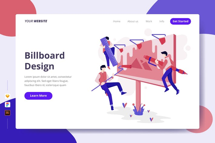 Thumbnail for Billboard Design - Landing Template