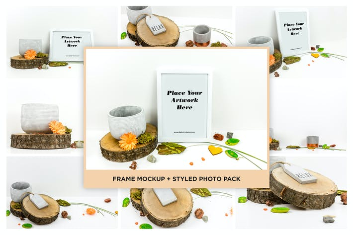 Thumbnail for Paquete de fotos con estilo y maqueta de marco
