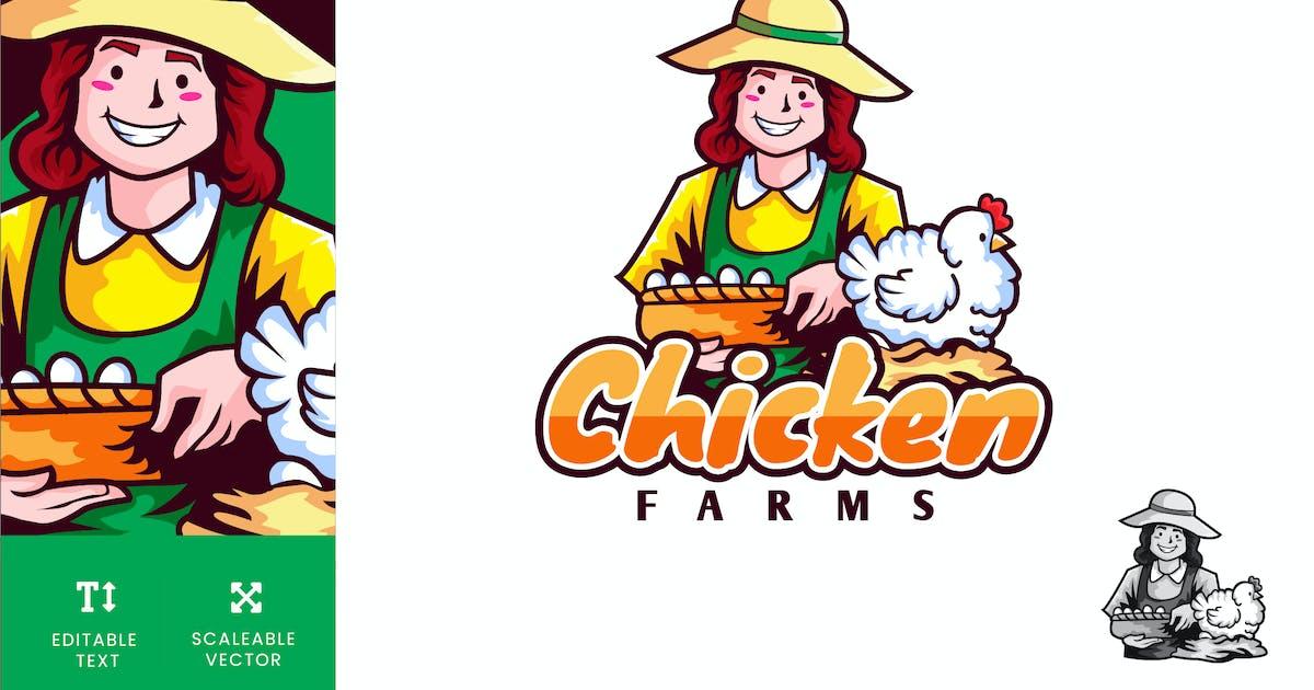 Download Organic Chicken Farm Logo Illustration Vector by naulicrea