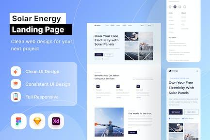 Page d'atterrissage sur l'énergie solaire