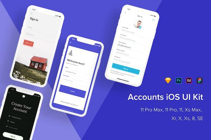 Thumbnail for Kit de interfaz de usuario de iOS de cuentas