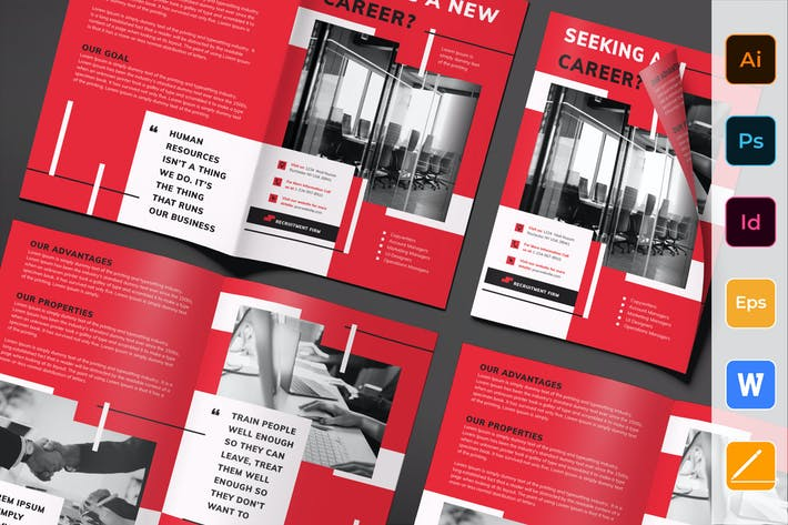 Thumbnail for Recruitment Firm Brochure Bifold