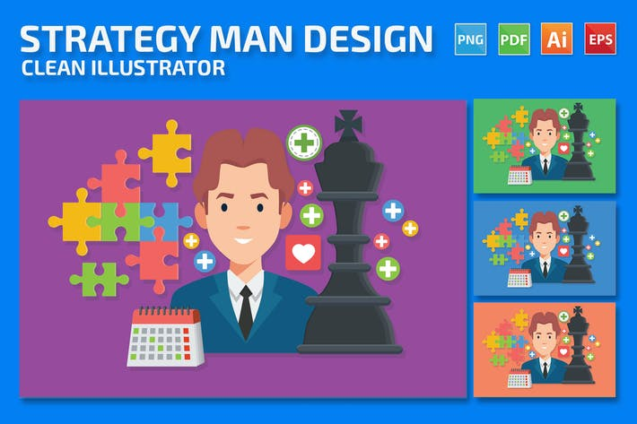 Thumbnail for Strategy Man Design
