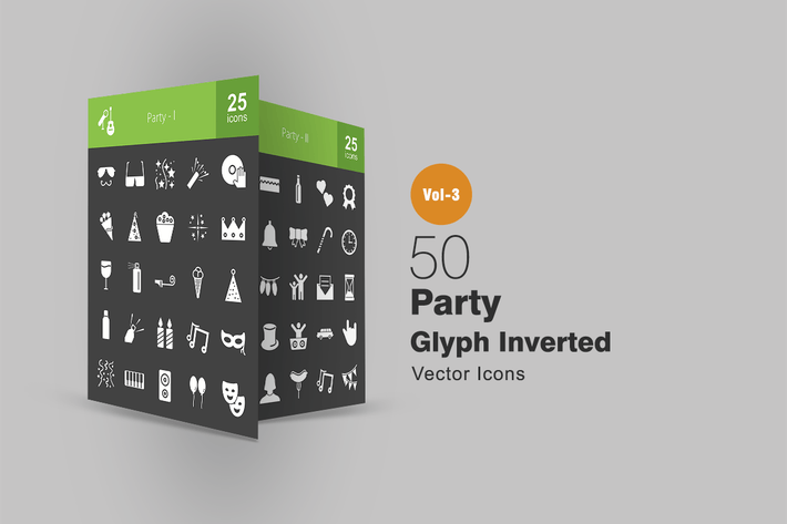 Thumbnail for 50 Party Glyph Inverted Icons