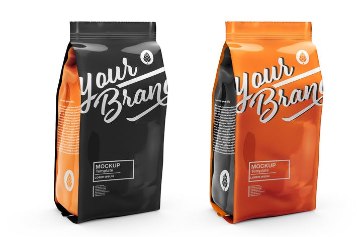 Thumbnail for Metallic Paper Coffee Bag Mockup