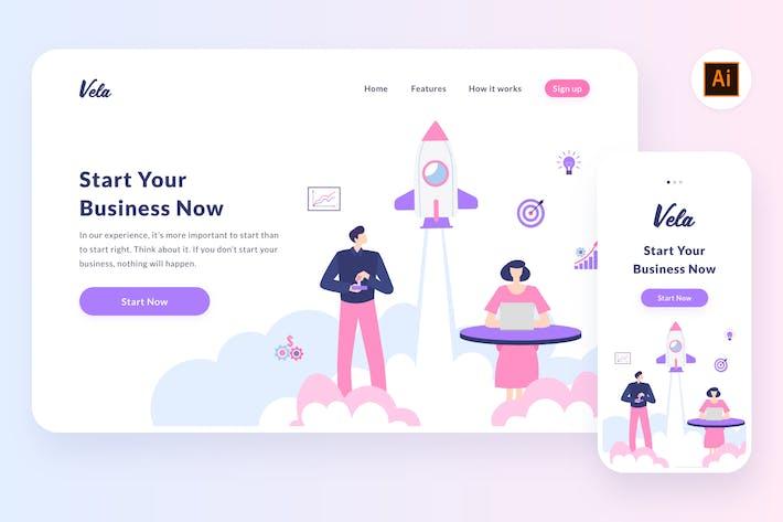 Thumbnail for Startup illustration (Illustrator, SVG)