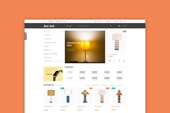 Thumbnail for Amoda - Responsive Magento Theme