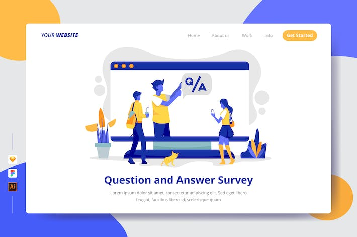 Thumbnail for Question and Answer Survey - Landing Page