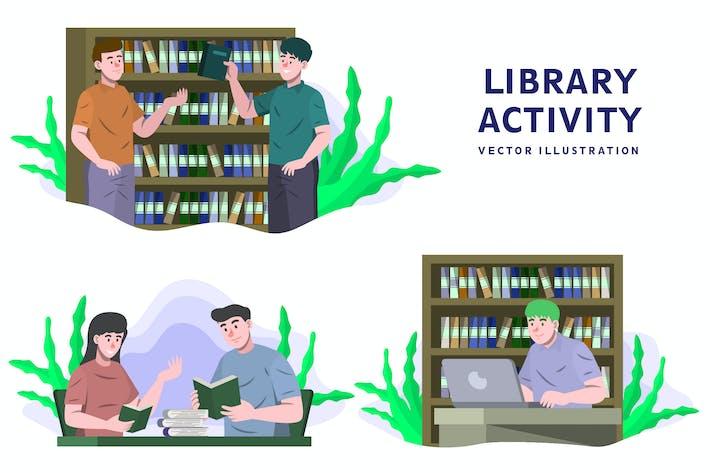 Biblioteca - Ilustración de Vector de actividad