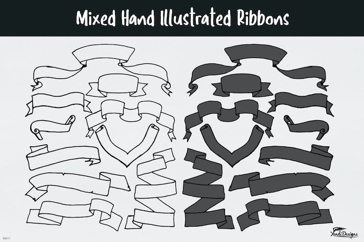 Thumbnail for Mixed Hand Illustrated Ribbons