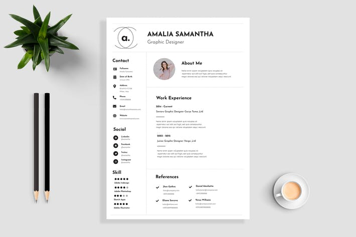Thumbnail for Resume / CV Template