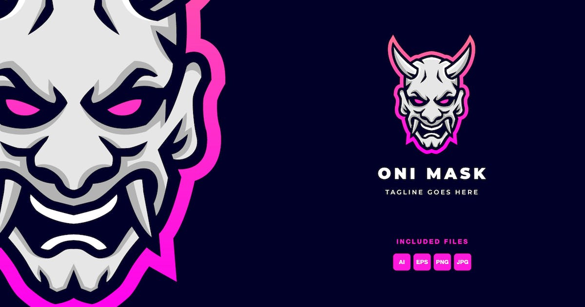 Download Onimask Logo Template by flowless