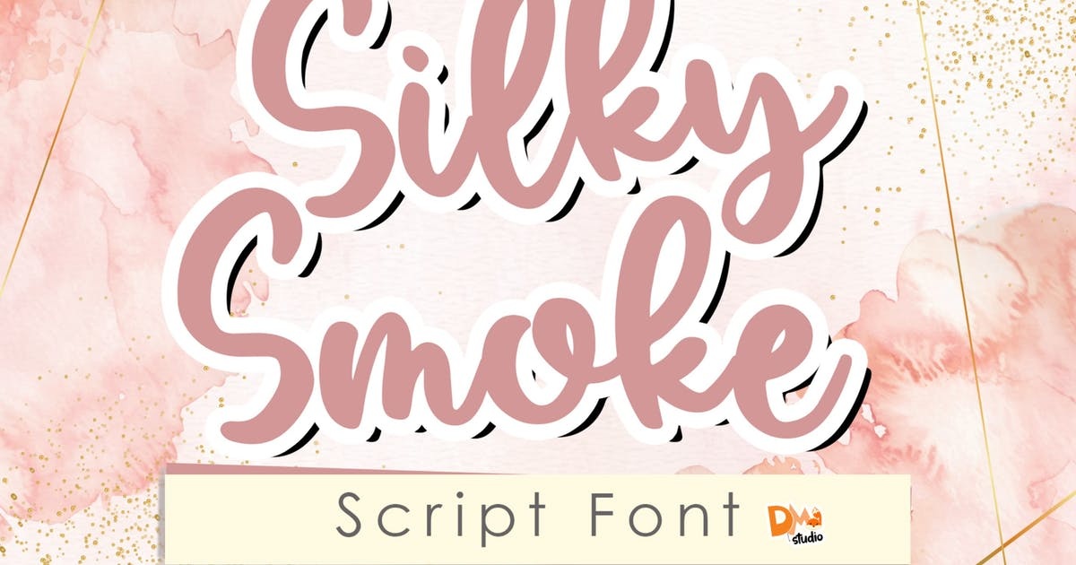 Download Silky Smoke - Script Font by DmLetter
