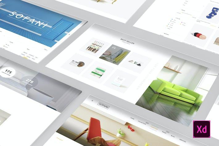 Thumbnail for Sofani - Furniture Store Adobe XD Template