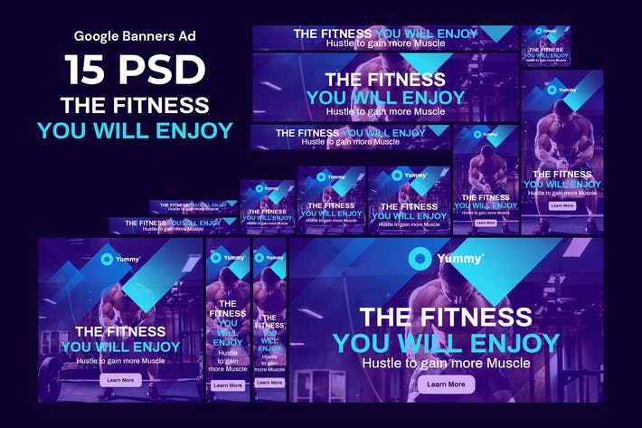 Fitness & Yoga Banners Ad