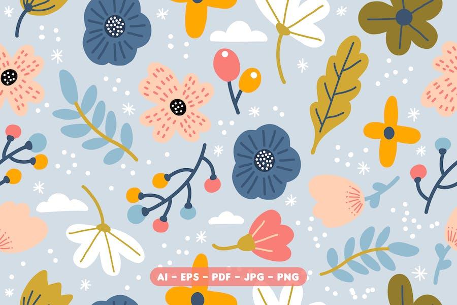Motif de fleurs mignon