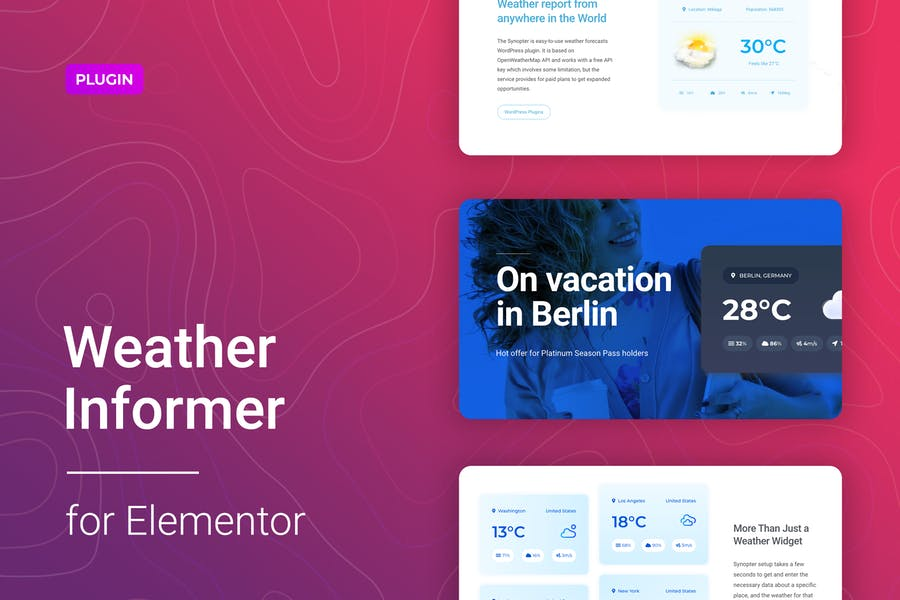 Weather for Elementor