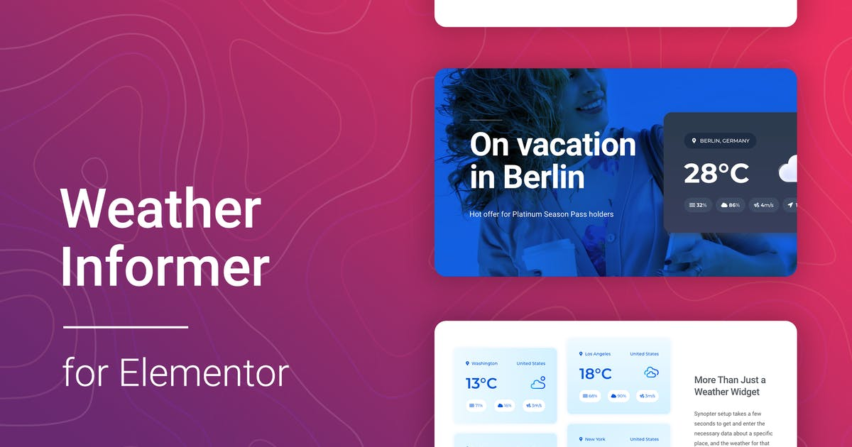 Download Weather for Elementor by merkulove