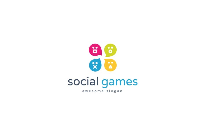 Thumbnail for Social Games Logo Template