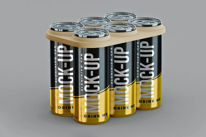 Thumbnail for Aluminium Can Six Pack Mock-Up