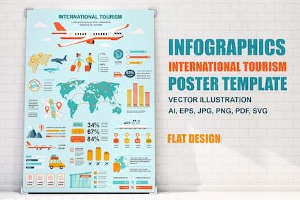 Tourismus-infografiken Poster Vorlage