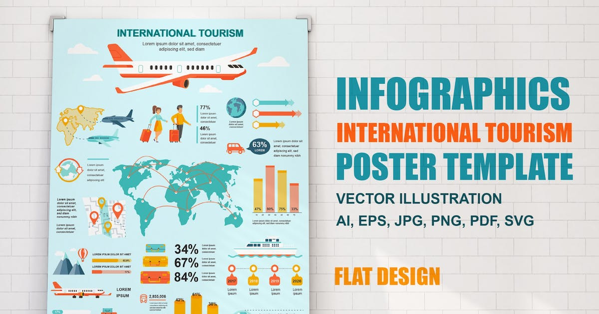 Download Tourism Infographics Poster Template by alexdndz