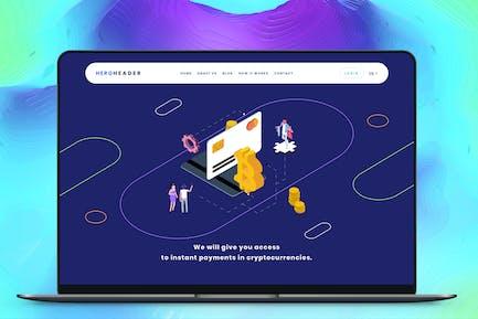 Hero Header Blockchain Isometric 3 AB