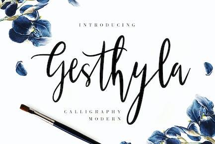 Gesthyla Calligraphy Wedding Font