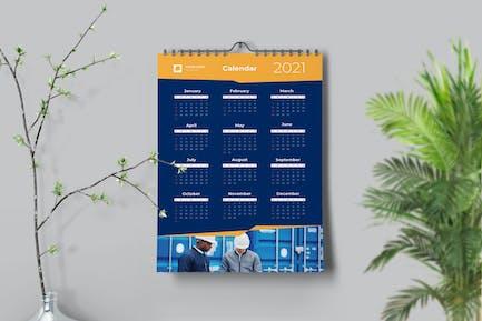 Dynamischer gelber Kalender