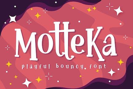 Motteka - Playful Bouncy Font