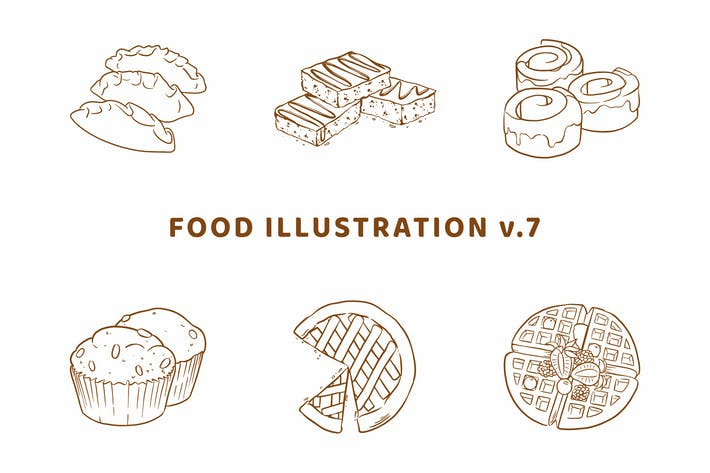 Thumbnail for Food Illustration V.7 (Outline Version)