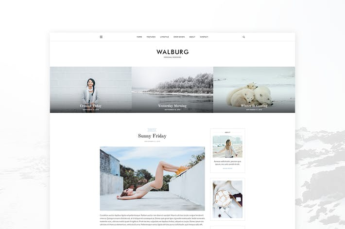 Thumbnail for Walburg - Personal Blog Template