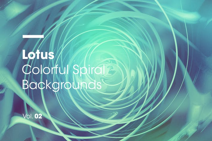 Thumbnail for Lotus | Colorful Spiral Backgrounds | Vol. 02