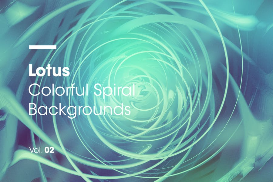 Lotus | Colorful Spiral Backgrounds | Vol. 02