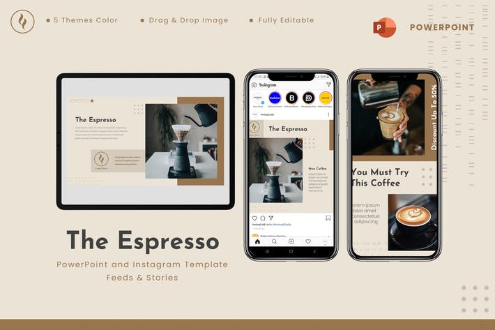 The Espresso - Powerpoint & Instagram Template