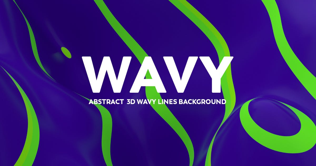 Download Abstract  3D Wavy Lines Background -Green and Blue by mamounalbibi