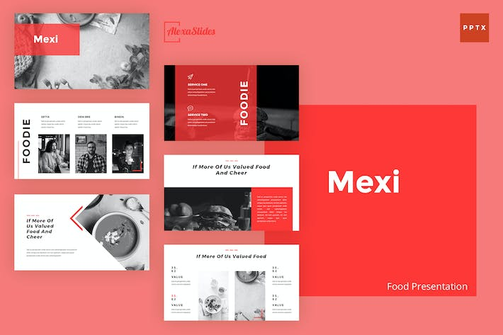 Cover Image For Mexi - Food Powerpoint Presentation Template