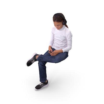 Mädchen sitzend