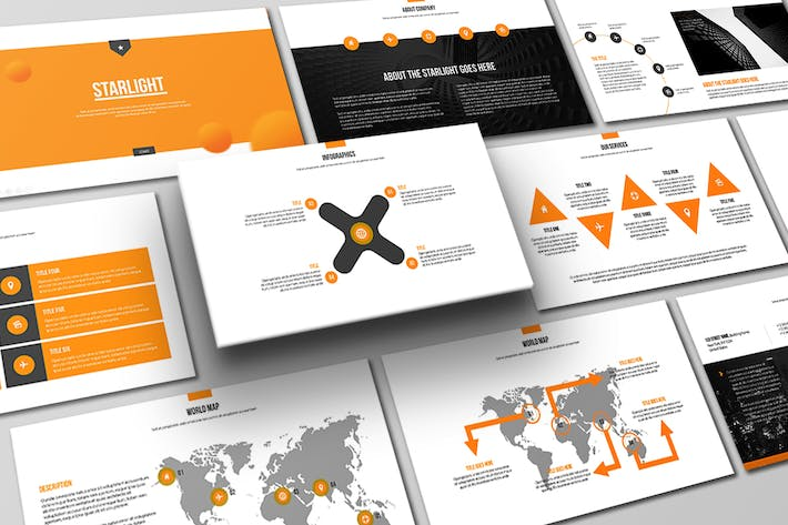 Thumbnail for Starlight Powerpoint Template