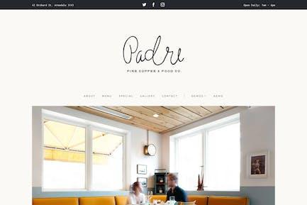 Padre | Café & Restaurant Modèle HTML