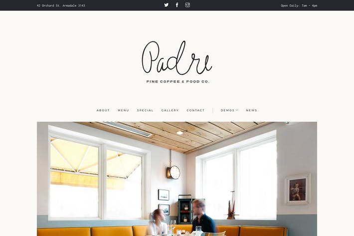 Thumbnail for Padre | Cafe & Restaurant HTML Template