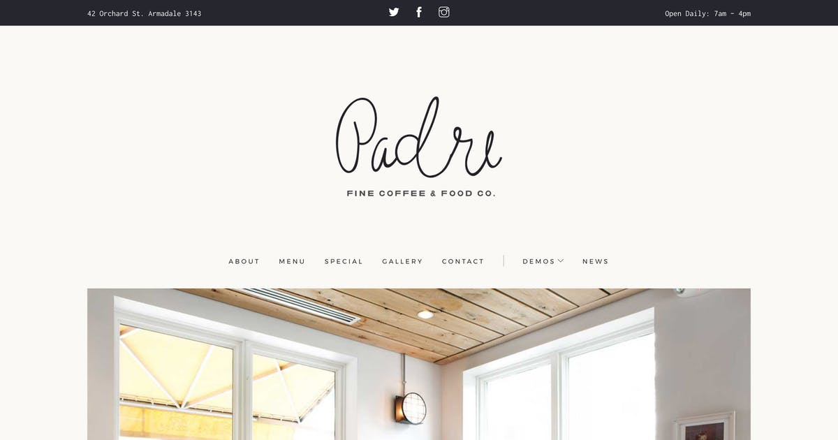 Download Padre | Cafe & Restaurant HTML Template by medium_rare