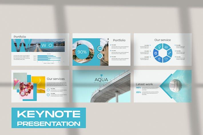 Thumbnail for Aqua Business Keynote Presentation