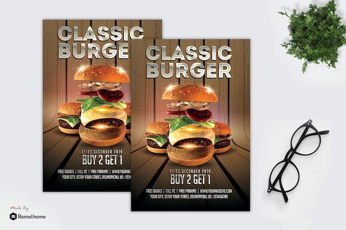 Thumbnail for Classic Hamburger - Promotion Flyer MR