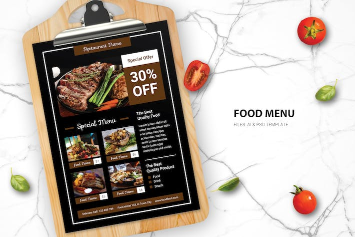 Thumbnail for Steak and Grill Food Menu