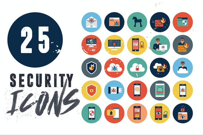 Thumbnail for 25 Security Icons