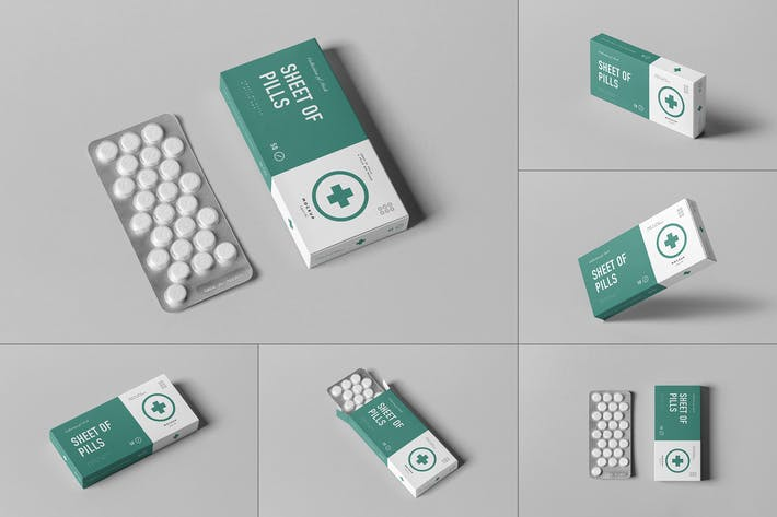 Thumbnail for Pills Box Mock-up
