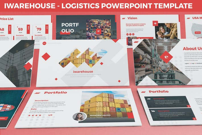 Thumbnail for iWarehouse - Logistics Powerpoint Template