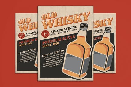 Old Whisky Poster