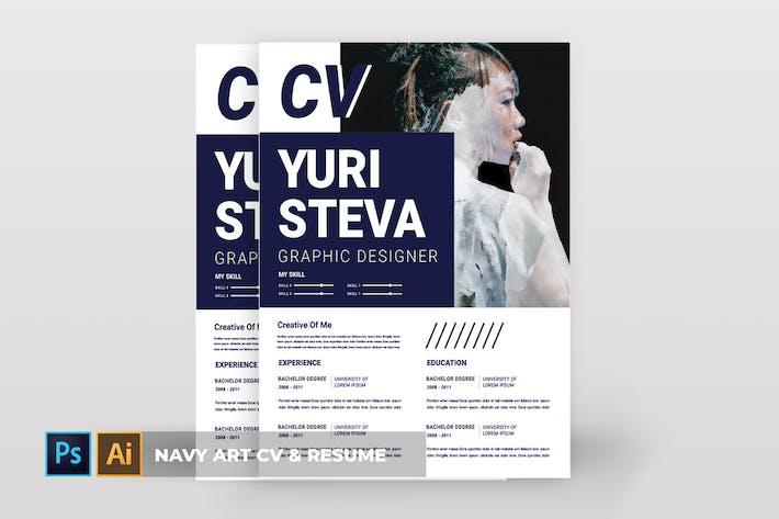 Thumbnail for Navy Art | CV & Resume
